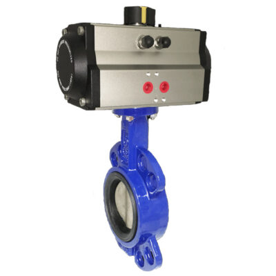 Butterfly Valve With Single Or Double Acting Actuator