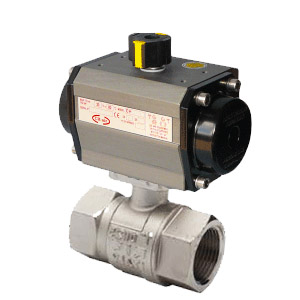 ISO 5211 Brass Ball Valve With Single or Double Acting Actuator