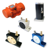 Electric vibrating motors for general applications in various industrial sectors.